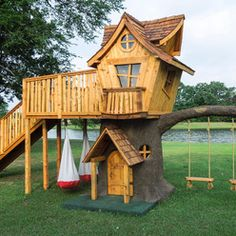 whimsical outdoor playhouse | ... : Find Playground Designs, Swings, Playhouses and Slides Online