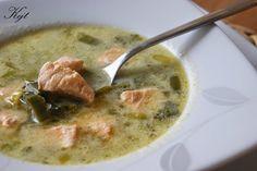Delikatna zupa porowa z łososiem