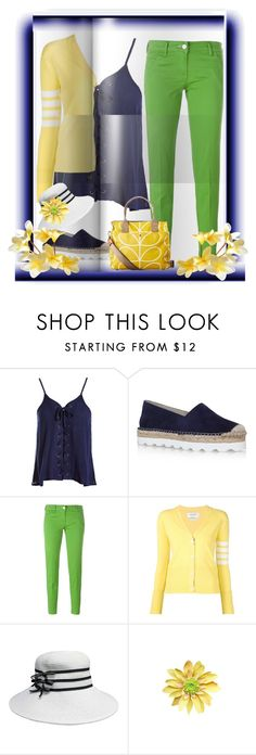 """""""Orla"""" by bren-johnson ❤ liked on Polyvore featuring Sans Souci, Carvela Kurt Geiger, Jacob Cohёn, Thom Browne and Orla Kiely"""