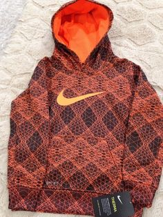 NWT Nike Toddler Boy Long Sleeve THERMA Pull Over DRI-FIT Hoodie /Top MSRP $44  | eBay