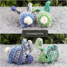 Ravelry: Twisted Bunny Rabbits pattern by Crochet at Teri's Small Crochet Gifts, Love Crochet, Diy Crochet, Crochet Toys, Crocheted Animals, Amigurumi Patterns, Knitting Patterns Free, Free Pattern, Crochet Patterns