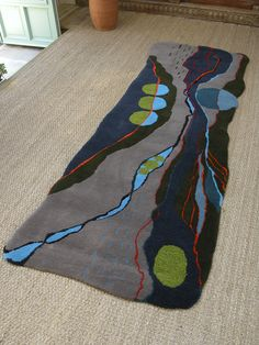 'Evensong' a landscape at dusk. Hand tufted rug by Annette Turner by