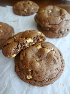 The Cooking Actress: Chocolate Peanut Butter Chip Cookies-Cookie of the Month {Peanut Butter}