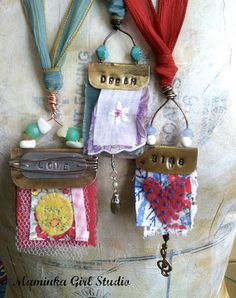 Fun Art Quilt Pendants | Flickr - Photo Sharing!