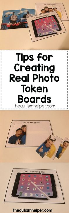 What's better than using your student's preferred reinforcer to let them know when reinforcement is coming! Try our tips for creating a token board using real photos on the blog!! From theautismhelper.com #theautismhelper