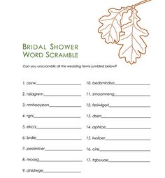 bridal shower games - word scramble by jayme_sloan, via Flickr