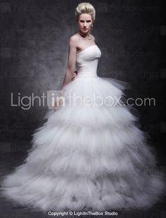 ALEXANDRINE - Vestido de Noiva em Cetim e Tule - R$ 397,93