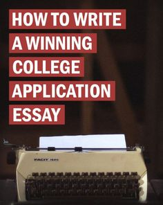 How to Write a Winning College Application Essay is part of Organization College Writing - Writing a college admissions essay can seem like an impossible task But it doesn't have to be Today's post will show you exactly what you should do Online College, College Fun, Education College, Online Jobs, College Tips, College Counseling, College Planning, Education Degree, College Crafts