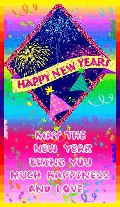 Gelukkig Nieuwjaar Bewegende Animatie 0099 Kaarten Happy New