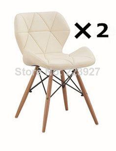 Eames style High-elastic foam sponge PU leather dining chair