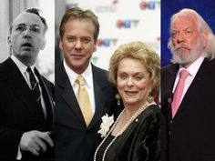 """Founder of the NDP and architect of Canada's universal health care system, TOMMY DOUGLAS (left) still tops lists of """"Greatest Canadians"""" today. His daughter was SHIRLEY DOUGLAS, an actress who graced dozens of productions on stage and screen including """"Road to Avonlea,"""" """"Wind at My Back"""" and """"Corner Gas."""" She was married to actor DONALD SUTHERLAND (right) from 1966 to 1970, and they had a son named KIEFER SUTHERLAND, who reached the heights of Hollywood glory as star of TV's """"24."""""""