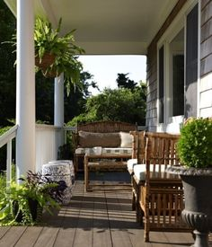 Love all of this. Especially the hanging Ferns. I wish I could put these on my front porch but it is much too hot.
