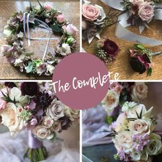 """Delivery Included - $425.00 . Everything """"floral"""" you need to tie the knot in style with a few friends standing by your sides celebrating with you! A beautiful hand-tied bouquet of seasonal blooms and a beautiful fresh floral crown for you with a coordinating boutonniere for his lapel. The addition of one best man boutonniere and one coordinating bridesmaid bouquet and 2 vases to keep those fresh. Includes Delivery to the location of your choosing. Please let us know your colour preferences. Wedding Centerpieces, Wedding Table, Wedding Day, Floral Wedding, Wedding Flowers, Victoria Wedding, Hand Tied Bouquet, Stand By You, Island Weddings"""