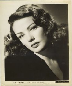 Gene Tierney 1940s 20th Century-Fox promotional still photo.