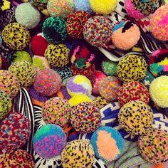 Pom pom heaven made by Annie Larson.