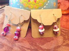 Earrings/Patriotic Earrings/Red White Blue by BonKim on Etsy