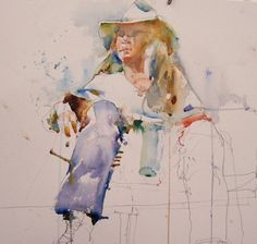 . The drips and spatters add a lot to the character of the painting ...