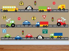 Truck Wall Decal  Construction Wall Decal  Car Wall by YendoPrint