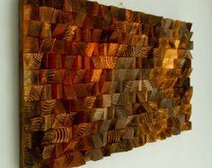 Arte rústico de la pared de madera escultura de por ArtGlamourSligo
