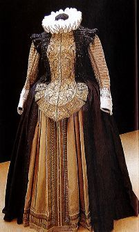 costume by Ollivier Henry - early Century Spanish style 16th Century Fashion, 17th Century Clothing, 18th Century, Elizabethan Costume, Elizabethan Fashion, Renaissance Mode, Renaissance Fashion, Historical Costume, Historical Clothing