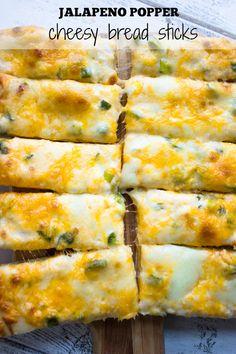 Jalapeno Popper Cheesy Breadsticks - Brunch Time Baker