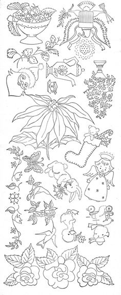 COLOUR IT, SEW IT, TRACE IT, ETC. Embroidery patterns