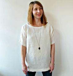 White Linen Tunic by Jessalin Beutler - Velouria
