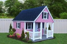 Wonderful Useful Ideas: Roofing Materials Building roofing shingles photo galleries.Roofing Business Cards home roofing design. Backyard Playhouse, Build A Playhouse, Pink Playhouse, Cubby Houses, Play Houses, Diy Roofing, Roofing Shingles, Modern Roofing, Steel Roofing