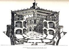 Section of the Palazzo Farnese, Caprarola