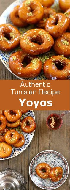 Yoyos (or youyous) are delicious donut-shaped Tunisian pastries, which are usually soaked in sugar syrup and sprinkled with crushed pistachios or almonds. #Tunisia #Tunisian #TunisianCuisine #TunisianRecipe #NorthAfricanCuisine #NorthAfricanRecipe #NorthAfrica #Maghreb #MaghrebCuisine #Pastry #TunisianPastry #NorthAfricanPastry #WorldCuisine #196flavors via @196flavors