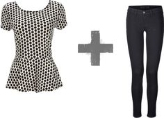 what to wear a #peplum top with