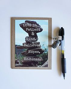 Corinthians Love is Patient Marriage Engagement Love photo greeting card