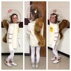 Character Day, Spirit Week, Sandy Cheeks Costume, DIY, Sewing, Spongebob Squarepants, Halloween