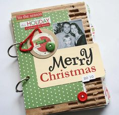 LOVE LOVE LOVE this idea: Handmade Christmas: Christmas Art Journal. Make a new one every year; document things to did, made, fill with photos, tags, etc...