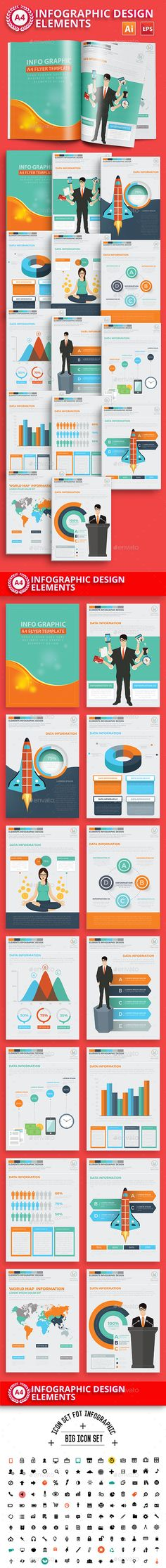 Business Infographics A4 Template Design - Infographics