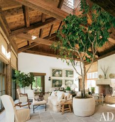 Exotic Living Room by John Cottrell Co. and G. P. Schafer Architect in Litchfield County, Connecticut