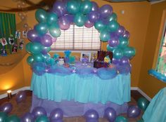 My daughter's Under the Sea First birthday Party   The Little Mermaid theme