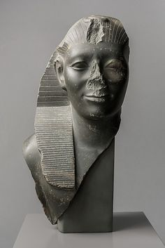 """""""Head of a Statue of Sekhemkare Amenemhat V Seated"""" from the Middle Kingdom, Dynasty 13, Amenemhat V, circa 1795-1972 B.C. Probably from Egpty, Elephantine, Aswan...part of the exhibition """"Ancient Egypt Transformed: The Middle Kingdom"""""""