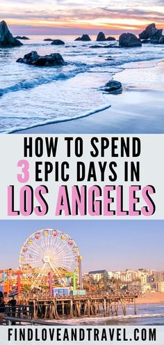 Traveling to LA, California? In this Los Angeles travel guide, find the best things to do in LA, Cali in 3 days! Includes the Griffith Observatory, Venice Beach, Santa Monica, the Hollywood Sign, road trip to Malibu and more! #LosAngeles #LA #California #travelitinerary #wanderlust |Los Angeles | Los Angeles Travel | LA Travel | LA California | Los Angeles Guide | LA Itinerary | Los Angeles best things to do in | 2 days in LA | 3 Day in LA | Malibu California | Los Angeles Travel tips | LA… Los Angeles Day Trips, Los Angeles Travel Guide, Los Angeles Vacation, Visit Los Angeles, Long Beach California, Malibu California, Los Angeles California, California Travel Guide, Irvine California