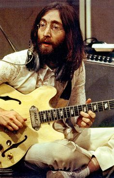 "John during ""Abbey Road"" sessions."