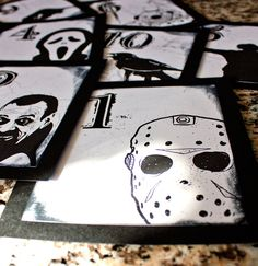 Halloween Horror Wedding Table Number (One for Ross!)