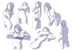 How to draw manga - Exaggerated female breast…