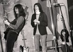 Patti Smith Group at CBGBs Photographer: Chuck Pulin