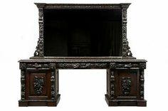 19th Century Carved Oak Mirrored Sideboard Dresser Bar | eBay