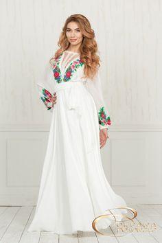 Embroired wedding dress Brand OKSANA POLONETS #weddingdress#dress#dresses#eveningdress#oksanapolonets#designerdress#ukrainiandesigner#ukrainianstyle#embroiredstyle#mylovelydress#wedding# Wedding Dress Brands, Colored Wedding Dress, Wedding Bridesmaid Dresses, Style Marocain, Modest Fashion, Fashion Outfits, Mexican Dresses, Embroidery Fashion, Sweet Dress