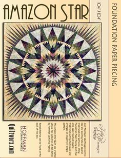 Canton Village Quilt Works: Shop | Category: All Patterns | Product: Amazon Star