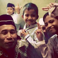 #Swafoto bersama anak-anak kampung kala #tahlil