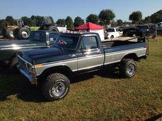 Nice old Ford Chevy Trucks, Big Ford Trucks, 1979 Ford Truck, Ford Ranger Truck, Classic Ford Trucks, 4x4 Trucks, Car Ford, Lifted Trucks, Diesel Trucks