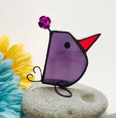 Purple Scrappy Bird Stained Glass Bird                                                                                                                                                                                 More