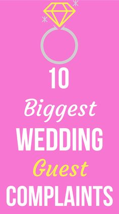 Find out the most common wedding guest complaints on SHEfinds.com.
